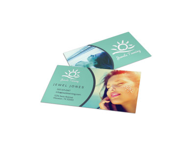 Tanning Salon Special Business Card Template preview