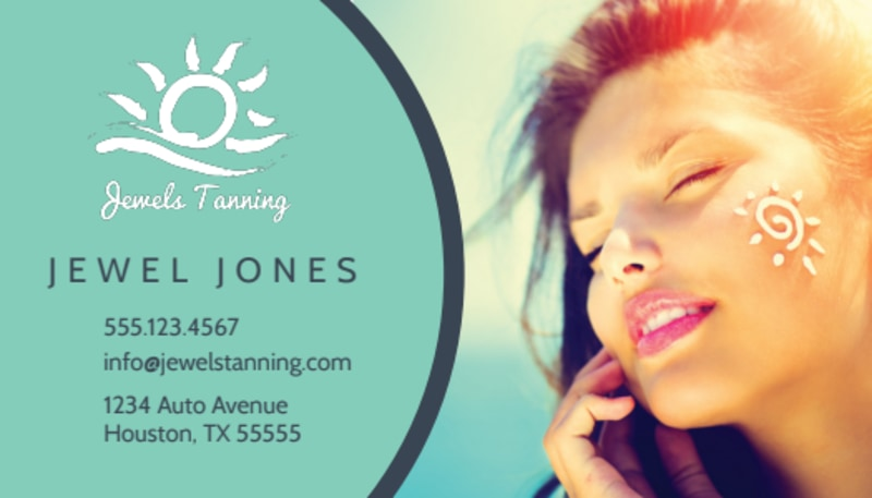 Tanning Salon Special Business Card Template Preview 2
