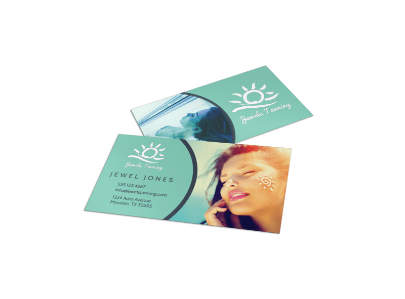 Tanning Salon Special Business Card Template Preview 1