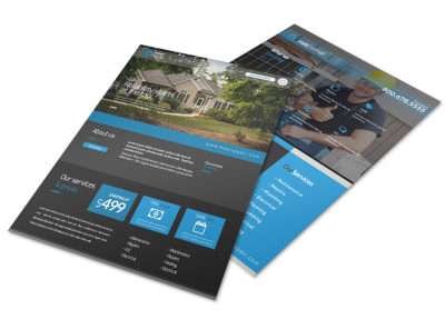 Quality HVAC Services Offered Flyer Template