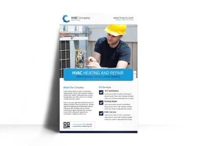 HVAC Sales Poster Template preview