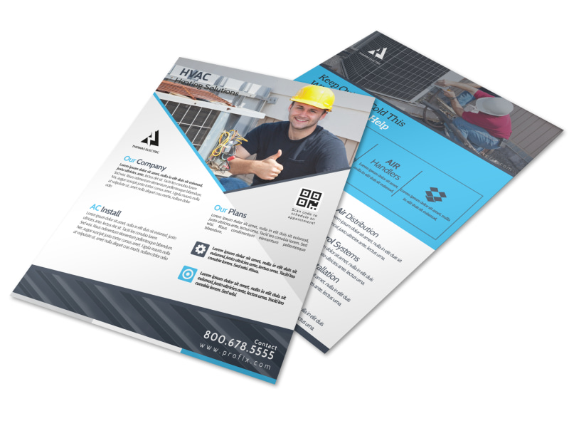 HVAC About Us Flyer Template Preview 4