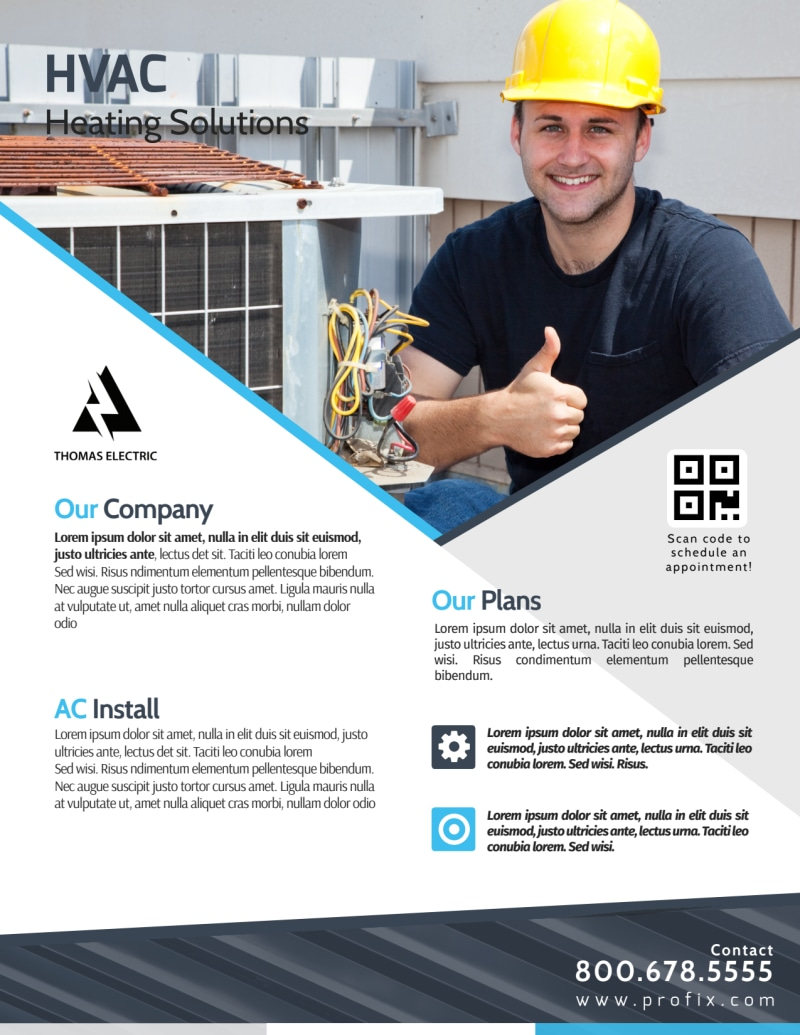 HVAC About Us Flyer Template Preview 2