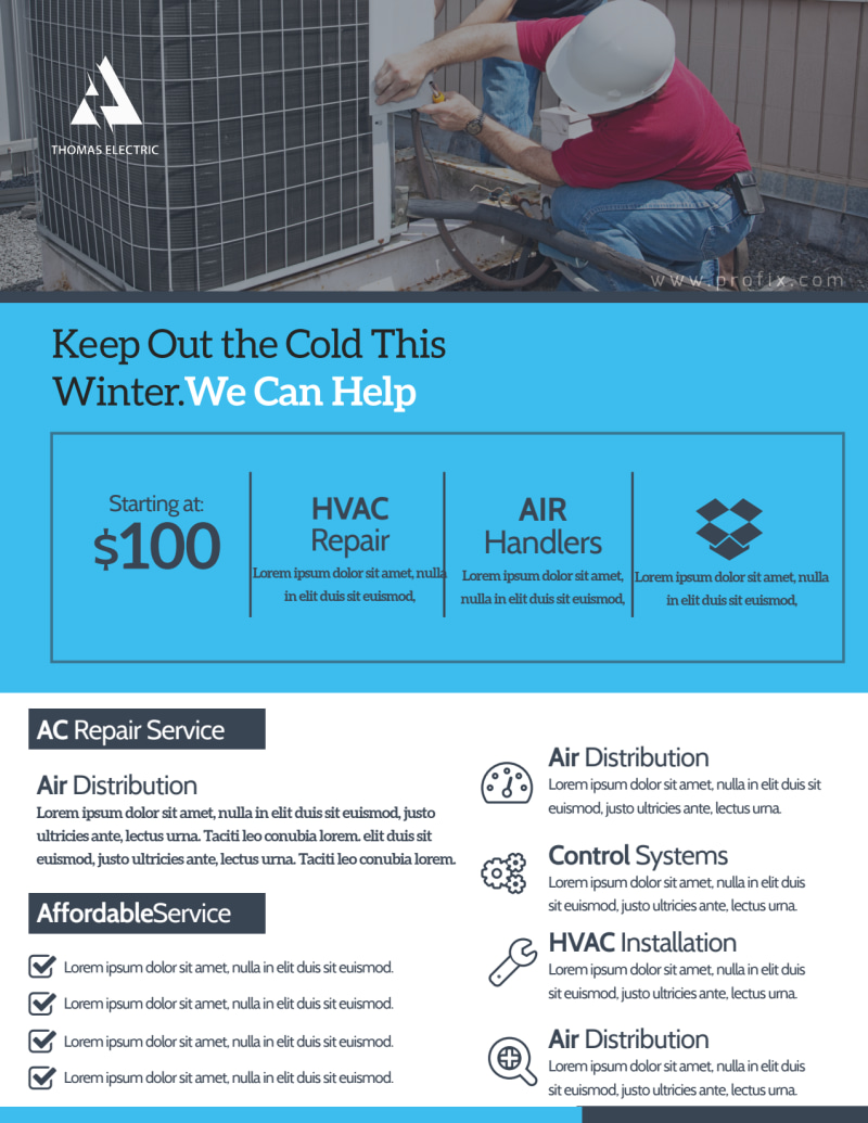 HVAC About Us Flyer Template Preview 3