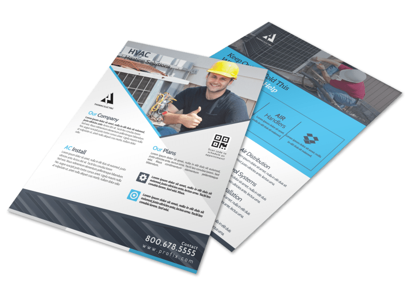 HVAC About Us Flyer Template Preview 1