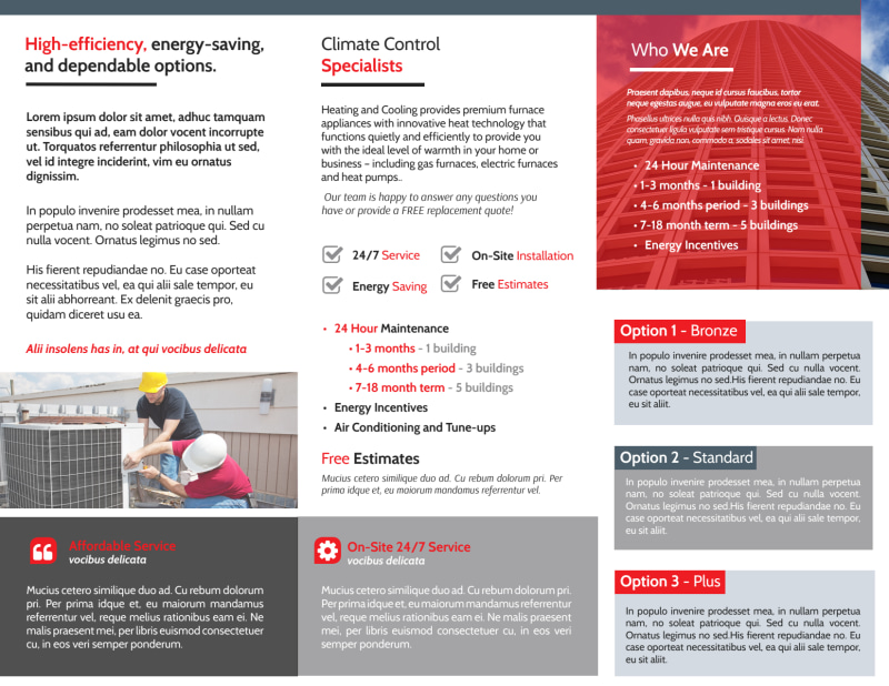 HVAC About Us Tri-Fold Brochure Template Preview 3