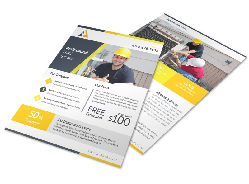 HVAC Free Estimates Flyer Template Preview 4