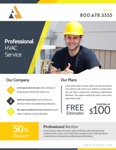 HVAC Free Estimates Flyer Template Preview 1