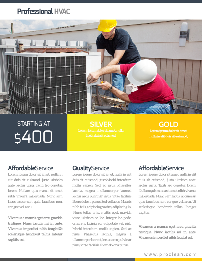 HVAC Free Estimates Flyer Template Preview 3