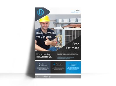 HVAC Free Estimates Poster Template preview