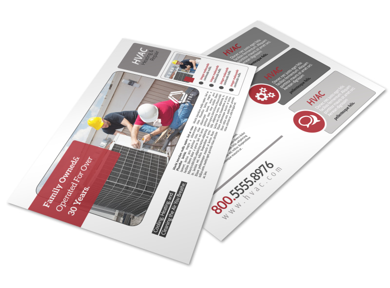 Red & White HVAC Postcard Template Preview 4
