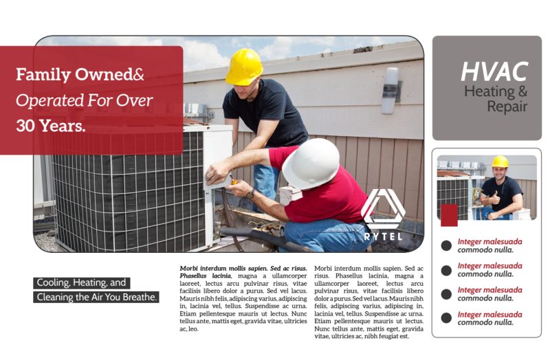 Red & White HVAC Postcard Template Preview 2