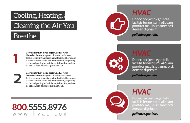 Red & White HVAC Postcard Template Preview 3