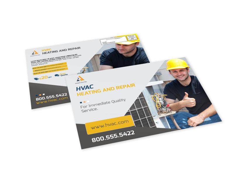 Heating & Repair EDDM Postcard Template