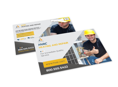 Heating & Repair EDDM Postcard Template preview