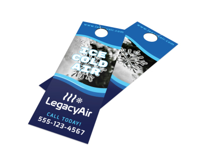 HVAC Ice Cold Door Hanger Template