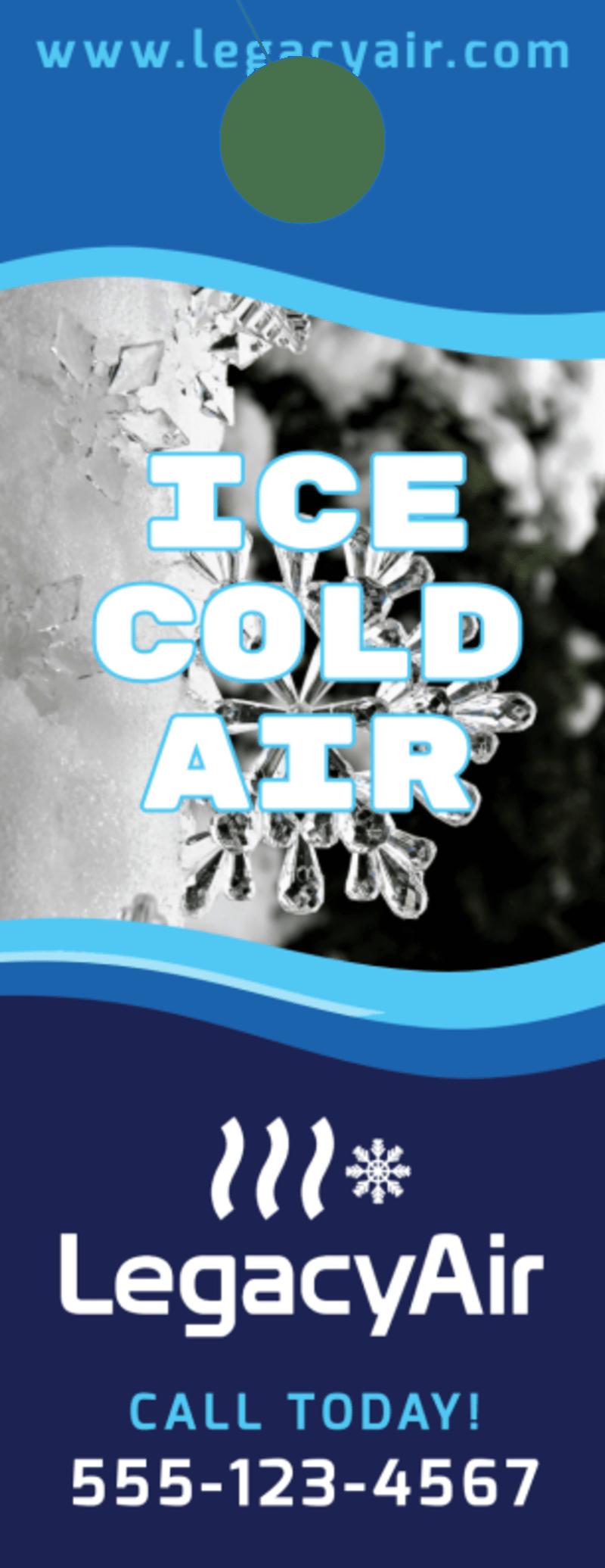 HVAC Ice Cold Door Hanger Template Preview 2