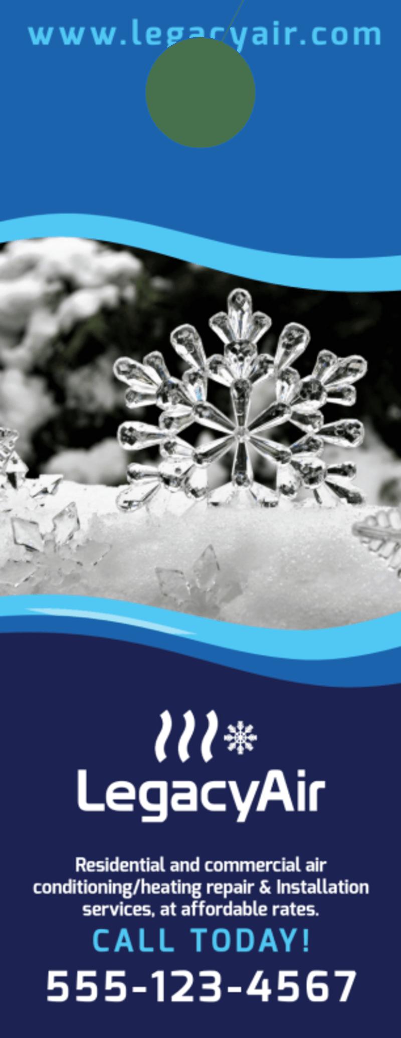 HVAC Ice Cold Door Hanger Template Preview 3