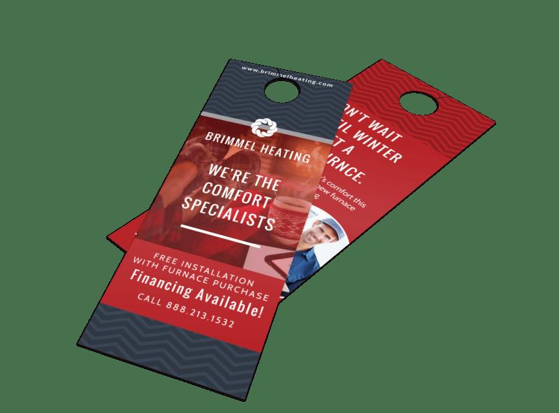 HVAC Door Hanger Template Preview 1