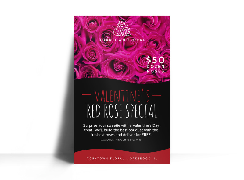 Valentine's Day Floral Special Poster Template