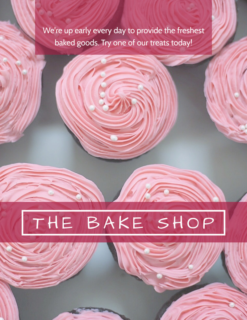 Bake Shop Valentine's Day Flyer Template Preview 3