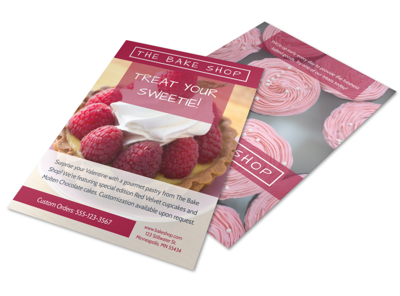 Bake Shop Valentine's Day Flyer Template Preview 1