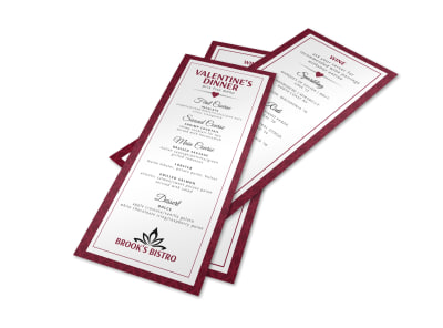 Valentine's Day Menu Template preview