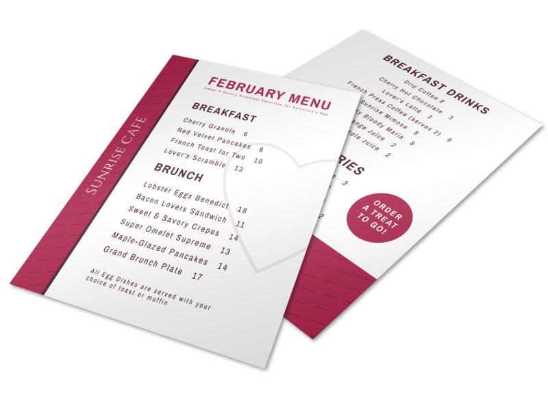 to go menu templates
