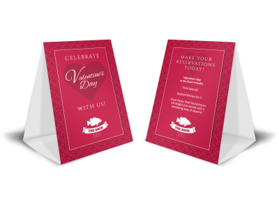 Beautiful Valentine's Day Table Tent Template preview