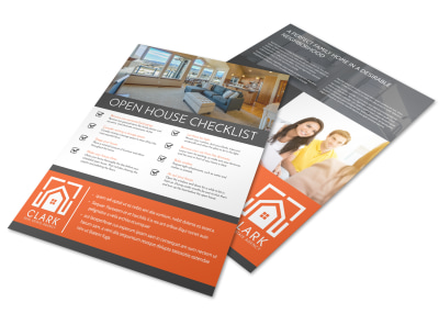 Real Estate Open House Checklist Flyer Template preview