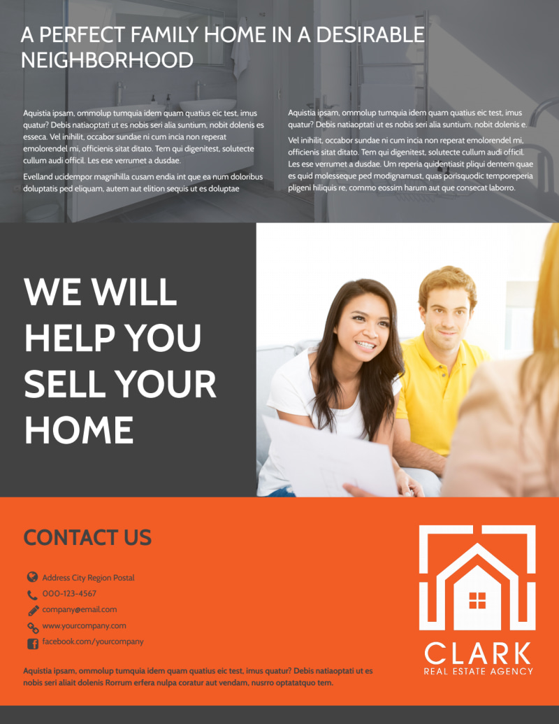 Real Estate Open House Checklist Flyer Template Preview 3