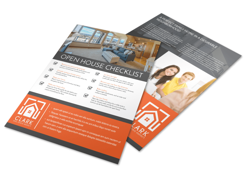 Real Estate Open House Checklist Flyer Template Preview 1
