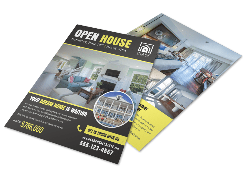 Open House List Flyer Template Preview 1