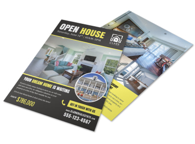 Open House List Flyer Template preview