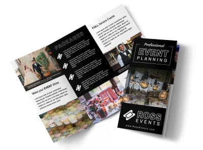 Event Planner Professional Tri-Fold Brochure Template preview