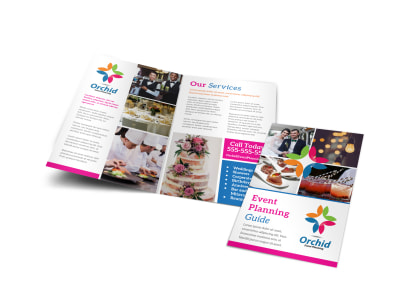 Event Planning Guide Bi-Fold Brochure Template preview