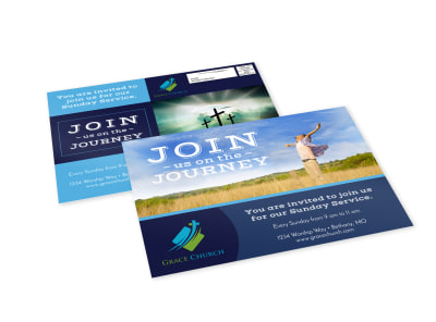 Church Invitation EDDM Postcard Template