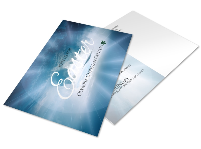 Easter Sunday Service Postcard Template
