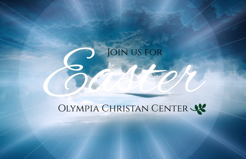 Easter Sunday Service Postcard Template Preview 2