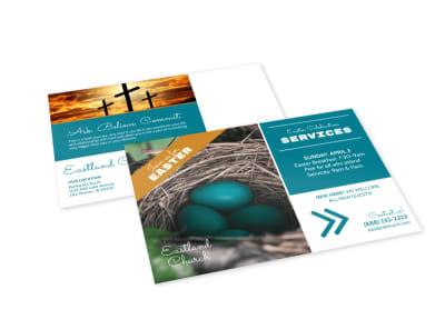 Church Easter Outreach EDDM Postcard Template preview