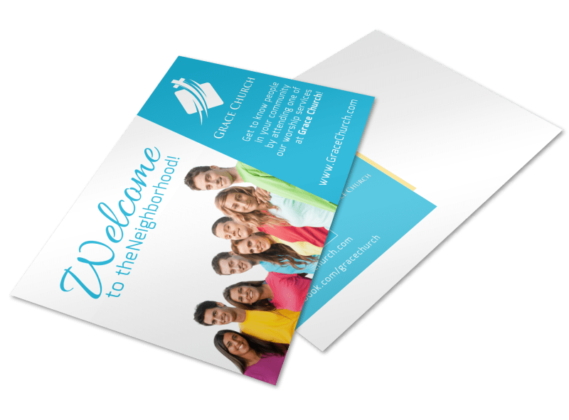 Church Welcome Postcard Template Preview 1