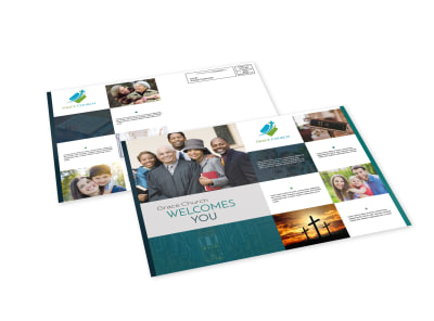 Church Welcome EDDM Postcard Template preview