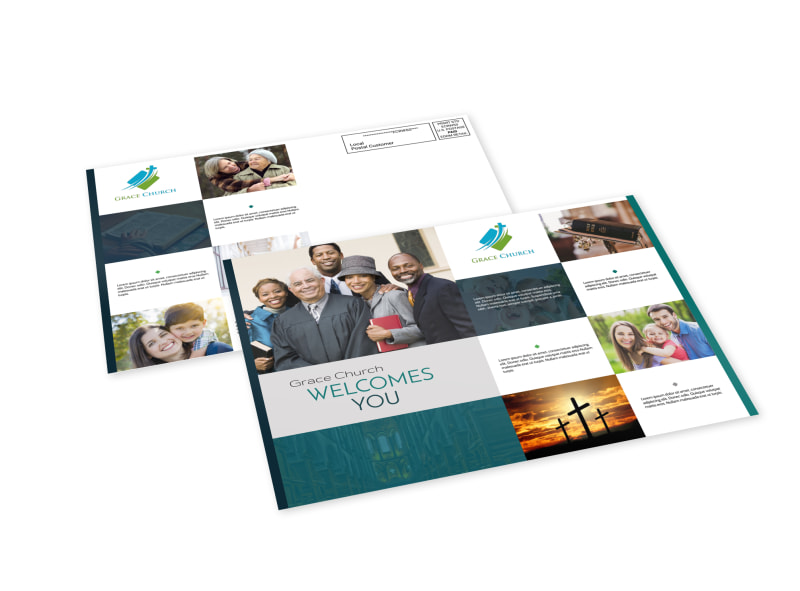 Church Welcome EDDM Postcard Template