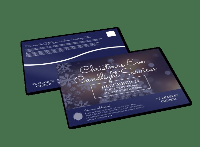 Church Christmas Eve Service EDDM Postcard Template