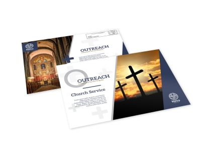 Church Outreach EDDM Postcard Template preview