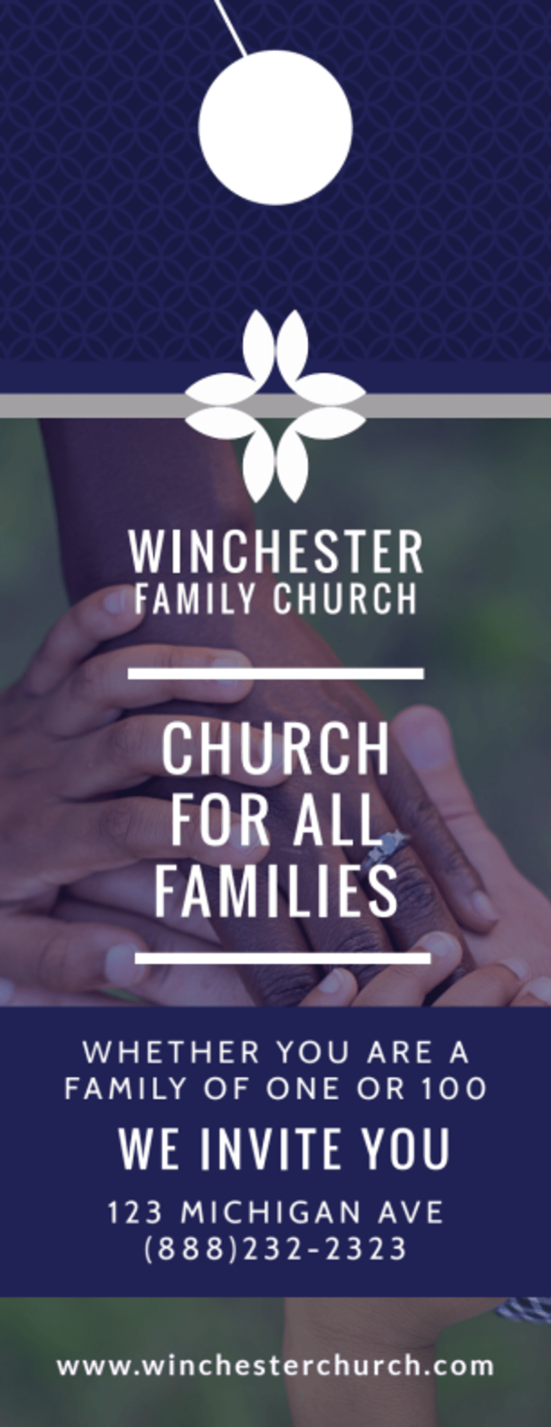 All Families Church Invitation Door Hanger Template Preview 2