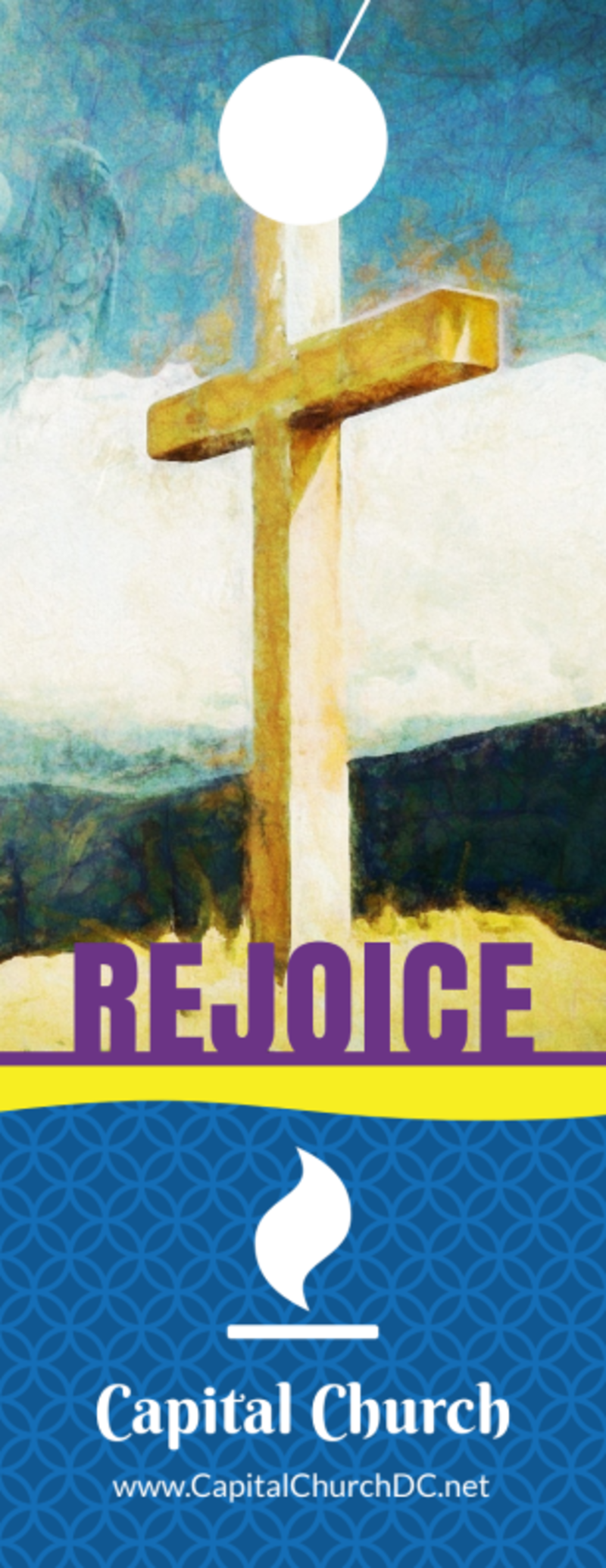 Easter Sunday Church Service Door Hanger Template Preview 3