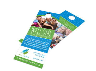 Church Welcome Door Hanger Template preview