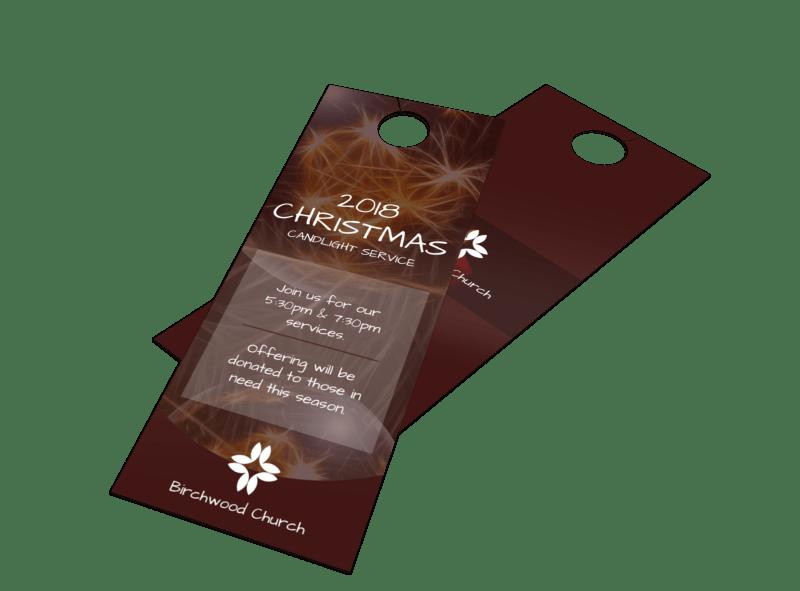 Church Christmas Door Hanger Template Preview 1