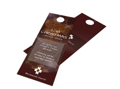 Church Christmas Door Hanger Template preview